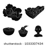 piece of vegetarian pizza with...   Shutterstock .eps vector #1033307434