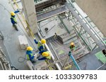 top view construction worker in ... | Shutterstock . vector #1033309783