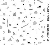 seamless pattern with memphis... | Shutterstock .eps vector #1033310470