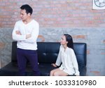 couples are quarreling about... | Shutterstock . vector #1033310980