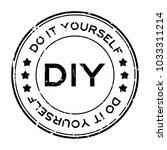 grunge black diy word ... | Shutterstock .eps vector #1033311214