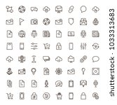 internet icon set. collection... | Shutterstock .eps vector #1033313683