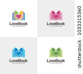 book logo design template with... | Shutterstock .eps vector #1033315360