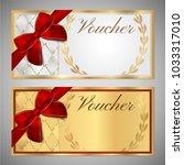 voucher  gift certificate ... | Shutterstock . vector #1033317010