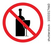 no alcohol sign | Shutterstock .eps vector #1033317460