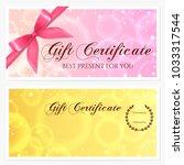 gift certificate  voucher ... | Shutterstock . vector #1033317544