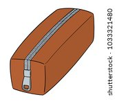 vector of pencil case | Shutterstock .eps vector #1033321480