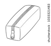 vector of pencil case | Shutterstock .eps vector #1033321483