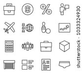 flat vector icon set  ... | Shutterstock .eps vector #1033324930
