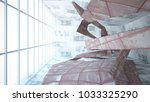 empty smooth abstract room... | Shutterstock . vector #1033325290