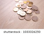 hong kong dollar coins on... | Shutterstock . vector #1033326250