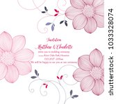 cute wedding invitation with... | Shutterstock .eps vector #1033328074
