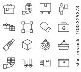 flat vector icon set   gift... | Shutterstock .eps vector #1033329373