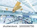 Small photo of Hong Kong, China - April 04, 2016 : Arrival Hall in Hong Kong International Airport. It handles more than 70 million passengers per year.