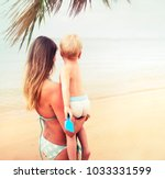 summer vacation and travel... | Shutterstock . vector #1033331599