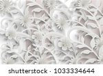 flowers and beautiful plants... | Shutterstock .eps vector #1033334644