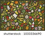 colorful vector hand drawn... | Shutterstock .eps vector #1033336690