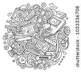 cartoon vector doodles art and... | Shutterstock .eps vector #1033336708