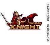 woman knight mascot  | Shutterstock .eps vector #1033336963