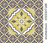 italian tile pattern vector... | Shutterstock .eps vector #1033337188