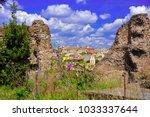 picturesque cityscape of rome...   Shutterstock . vector #1033337644