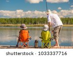 father with his son and...   Shutterstock . vector #1033337716