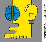 creative brainstorm concept... | Shutterstock .eps vector #1033338724