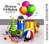 happy birthday greeting card....   Shutterstock .eps vector #1033338739