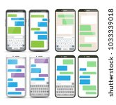 mobile screen messaging set...