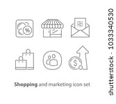 shopping and marketing  email... | Shutterstock .eps vector #1033340530