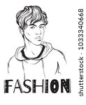 fashion man vector illustration.... | Shutterstock .eps vector #1033340668