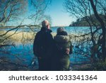 a senior couple enjoying... | Shutterstock . vector #1033341364