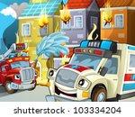 ambulance action 1 - stock photo
