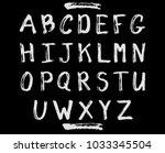 vector grunge alphabet.   Shutterstock .eps vector #1033345504