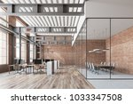 loft open space office with a... | Shutterstock . vector #1033347508