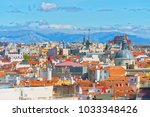 panoramic view from above on...   Shutterstock . vector #1033348426