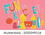 vector illustration composition ... | Shutterstock .eps vector #1033349116