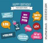 photo booth props set vector... | Shutterstock .eps vector #1033353184
