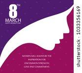 women's day typogrpahic design...   Shutterstock .eps vector #1033356169