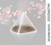 tea bag pyramid shape isolated... | Shutterstock .eps vector #1033360744