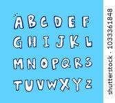 vector fonts   handwritten... | Shutterstock .eps vector #1033361848
