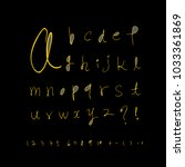 vector fonts   handwritten... | Shutterstock .eps vector #1033361869