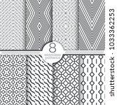 set of vector seamless patterns.... | Shutterstock .eps vector #1033362253
