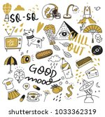 various object in doodle style | Shutterstock .eps vector #1033362319