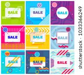 set of trendy abstract... | Shutterstock .eps vector #1033366249