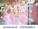 the candlesicks decorate... | Shutterstock . vector #1033368814