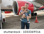 family father and child... | Shutterstock . vector #1033369516