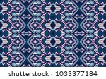 ikat geometric folklore...   Shutterstock .eps vector #1033377184