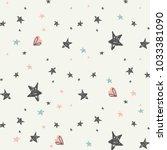 stars seamless pattern | Shutterstock .eps vector #1033381090
