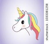 unicorn isolated on background. ... | Shutterstock .eps vector #1033381258